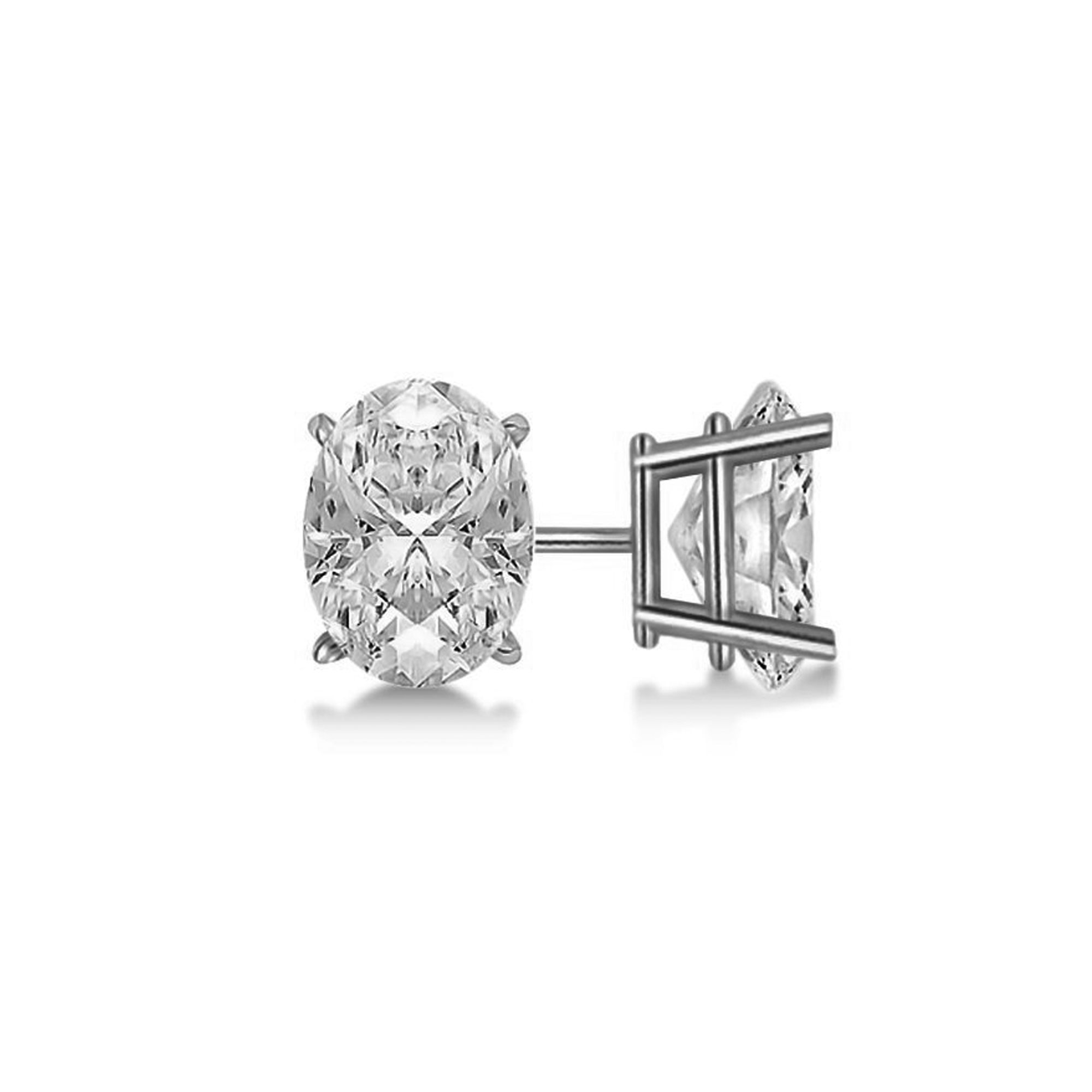 earrings charles one exclusive moissanite stud cushion itm jewelers forever h platinum design colvard tcw j